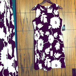 NWT black and white floral Ronni Nicole Dress